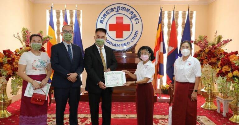 Medtecs Donation to Cambodia Red Cross