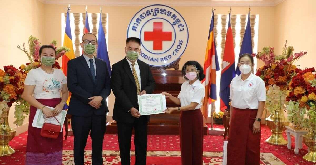 Medtecs Donation to Cambodia Red Cross