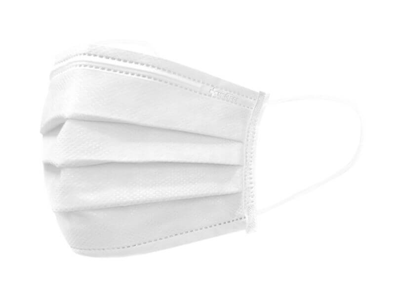 Medtecs white medical/surgical disposable mask, 3-layer breathable mask, CoverU 50 pieces