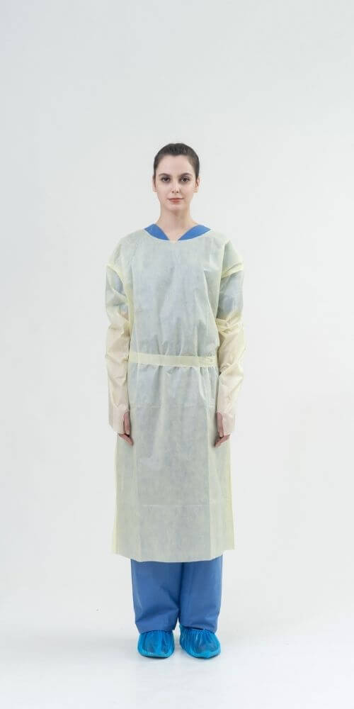 AAMI Level 1 SMMS 22gsm Isolation Gowns