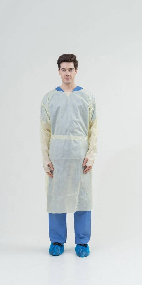 AAMI Level 2 SMMS 25gsm Isolation Gowns