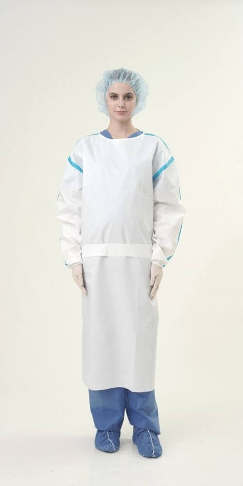 AAMI Level 4 PP+PE 63gsm Isolation Gowns with Tape 四級隔離衣-Medtecs美德醫療