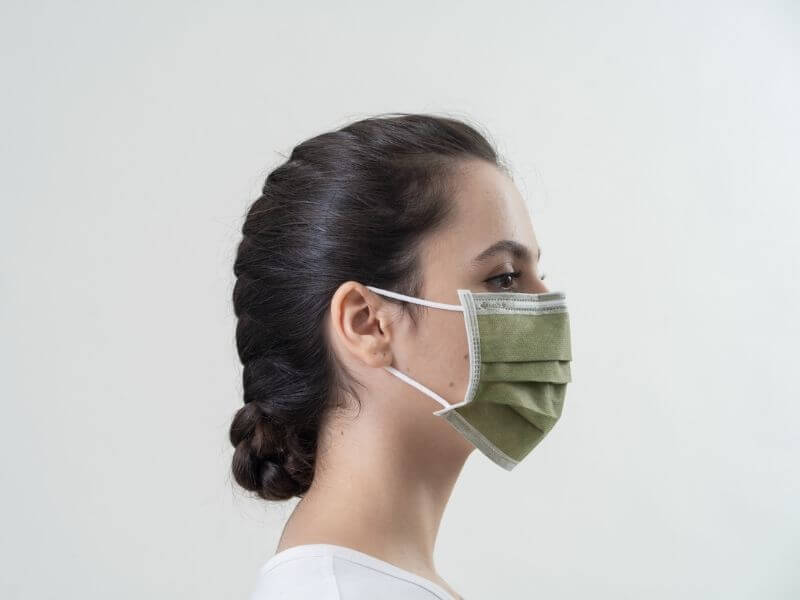 Green Surgical Face Mask ASTM Level 1
