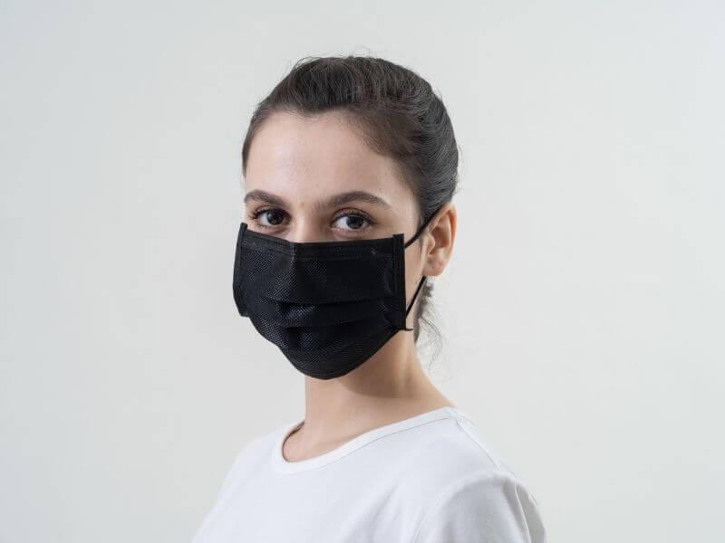 Black Surgical Face Mask ASTM Level 1