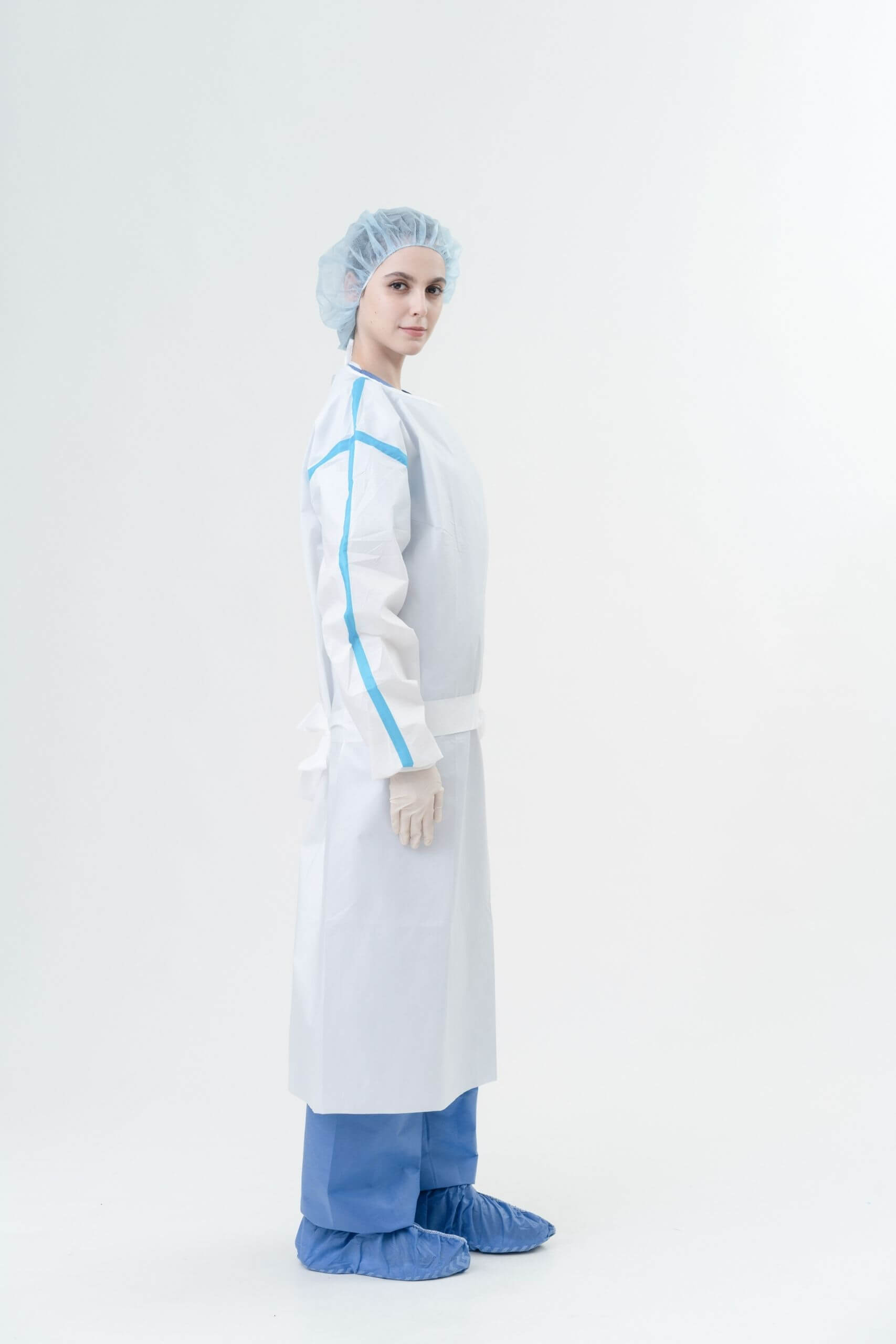 AAMI Level 4 PP+PE 63gsm Isolation Gowns with Tape Side四級隔離衣有膠條-Medtecs美德醫療